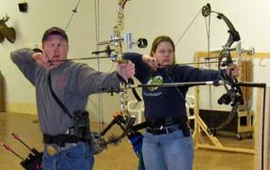 Tim and Amy competition shooting