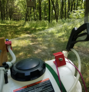 ATV spraying