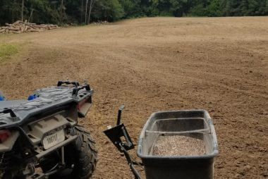 Fertilizing food plot