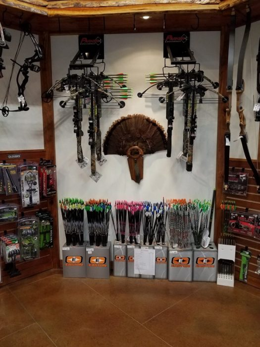 crossbows display area