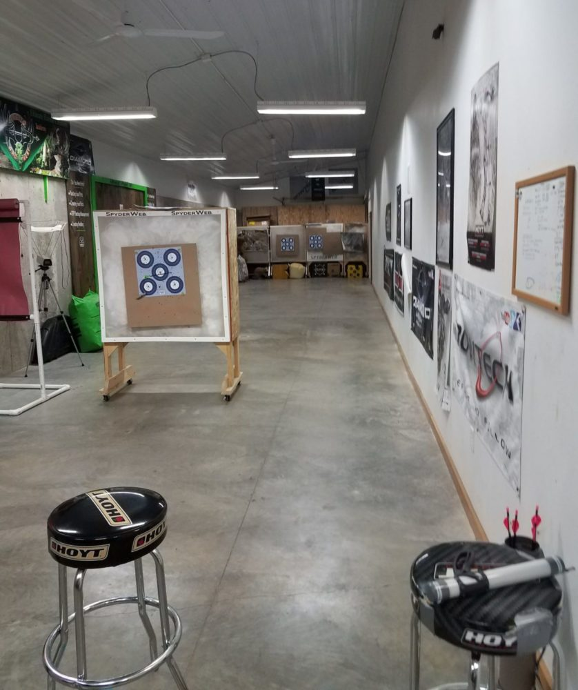 Indoor 20 yard Archery Range
