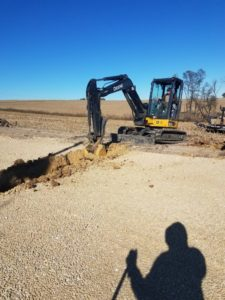 Digging water lines