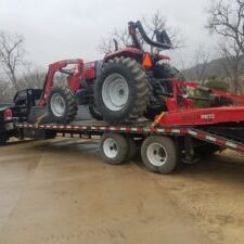 Mower on Trailer